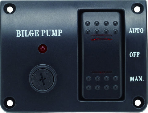 Bilge Pump Switch Panel Auto/Off/Manual  Rocker Switch 12 volt Marine Switch