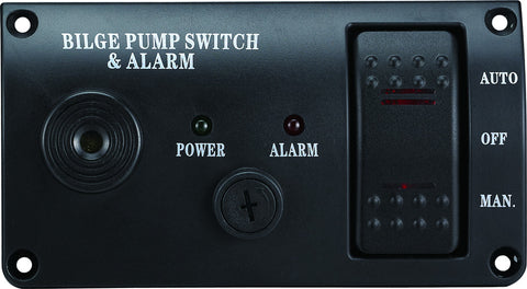 Bilge Alarm Switch Panel Auto/Off/Manual  Rocker Switch 12 volt with ALARM