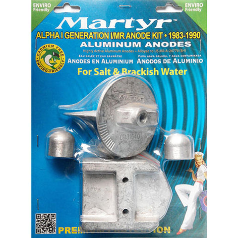 Anode Kit Mercury Outboard Alpha1 Gen1 Suits 1983-1990 Martyr Aluminium