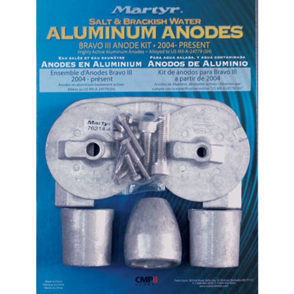Anode Alloy Kit Mercury Bravo Gen 3 2004 To Date