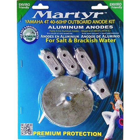 Anode Kit Yamaha 4T 40-60 Horse Power Outboard Martyr Aluminium Salt Water New