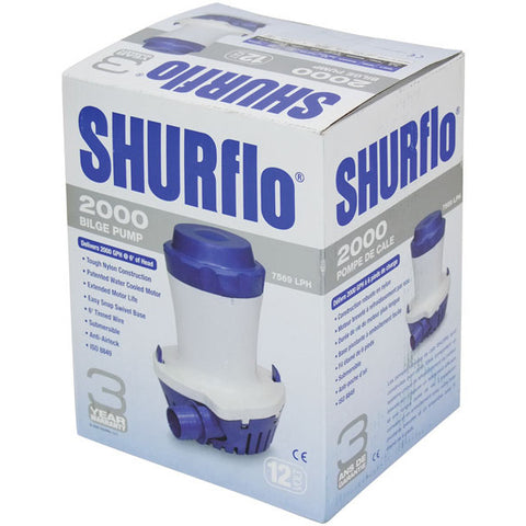 BILGE PUMP FOR BOATS SHURFLO 2000