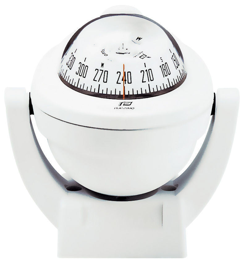 BOAT COMPASS MARINE COMPASS PLASTIMO OFFSHORE 75WHITE Bracket Mount Compass