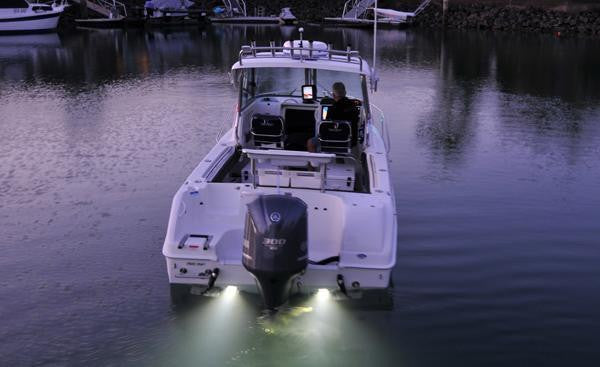 LED Underwater Lights For Boats White Stainless Cover Fully Sealed Led's X 2