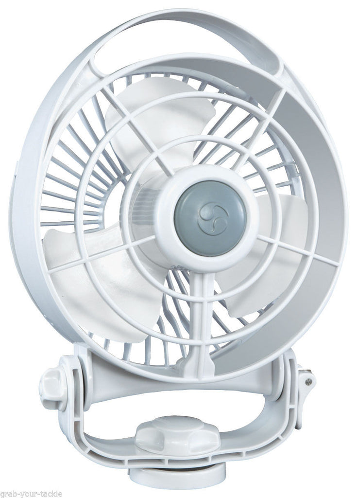 Fan- 12 Volt White Caravan/Boat/RV Fan CAFRAMO 3 SPEED Bora Ultra Quiet