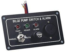 BILGE PUMP MARINE LED SWITCH PANEL WITH FUSE AND ALARM