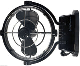 Fan CAFRAMO SIROCCO II 12/24 Volt Black Caravan/Boat/RV Ultra Quiet Latest Model