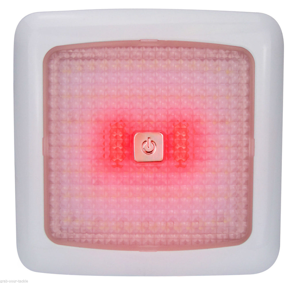 LED Light 12 volt Ceiling Light RED White LED's Dimmable Caravan Boat 96 LEDS