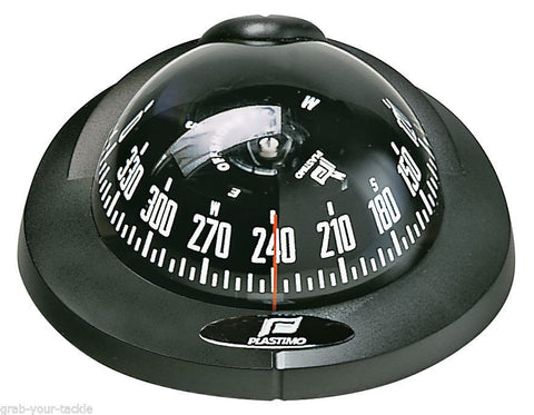 Compass Plastimo Offshore 75 Black Case Black Conical Card Powerboat Compass