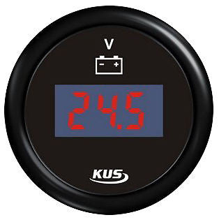 Volt Meter Gauge LED Digital 12 volt - 24 volt Meter Large readout 52mm gauge
