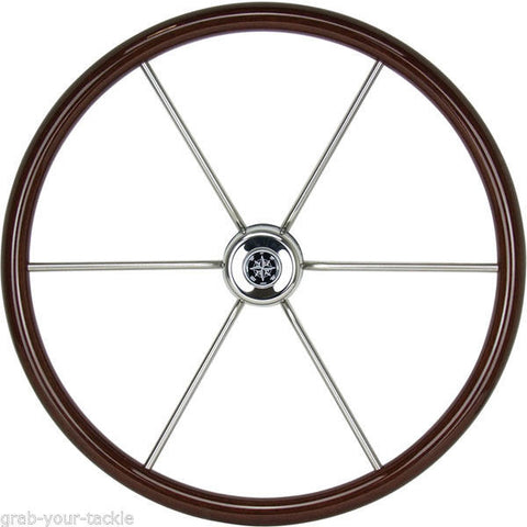 ITALIAN PREMIUM MAHOGANY WHEEL Marine Steering Wheel for Power/ Motor yacht
