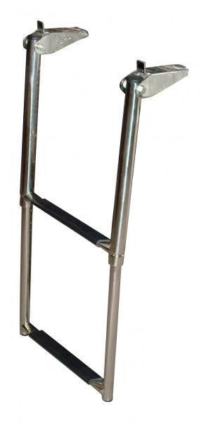 STAINLESS TELESCOPIC BOAT BOARDING LADDER - 2 STEP NEW Yacht Boat Ladder