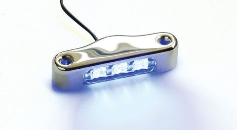 12Volt 3-SMD LED SS Courtesy Light Boat/Cabin/Stair- Blue-Waterproof-Caravan RV