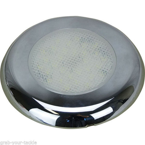 12V  2x Cabin Dome Light-Boat/Marine/Caravan/Ceiling Lamp 30 LED NEW Micro Touch