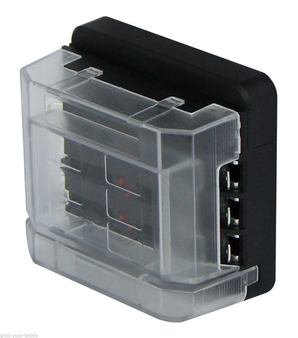 Circuit Fuse Box 6 Way 12 volt or 24 volt 100 amp Modular Design Blade Fuse