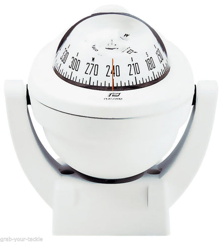 Compass Plastimo Offshore 95 White Case White Conical Card Powerboat Compass