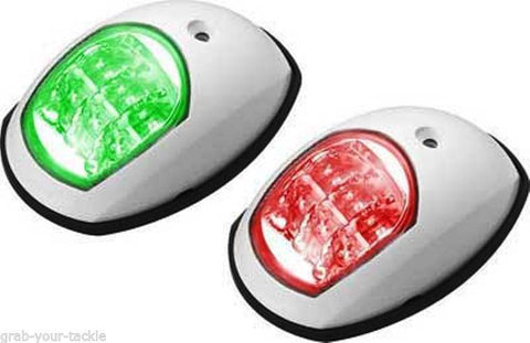 12V LED Navigation Lights Boat Port & Starboard - White 12 volt