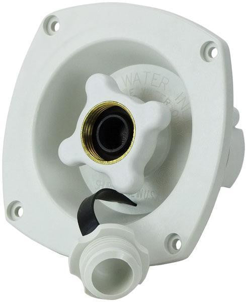Caravan Water Filler Pressure Regulator White Shurflo Fresh Water Inlet Recessed