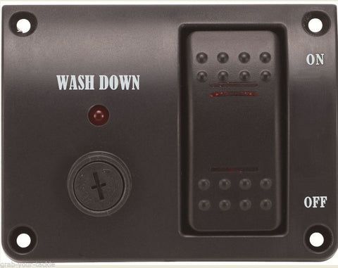 Deck Wash  Rocker Switch Panel LED12 volt Marine Switch Washdown controller
