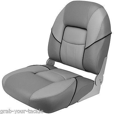 Boat Seat Deluxe Folding Padded Grey Top Quality Relaxn Marine Chair