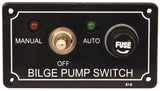 Bilge Pump Switch Panel LED Light 12 volt Marine Bilge Control for Boats Marine