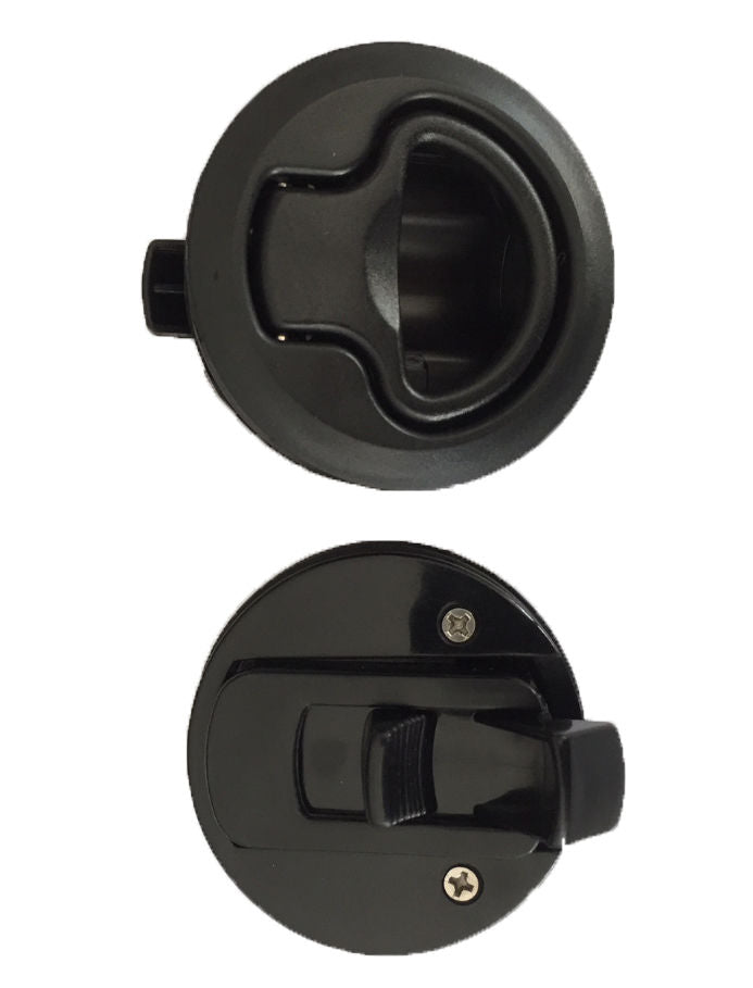 2x Flush Mount Slam Latch Boat/Caravan/4WD/Door Latch 62mm Suits 18mm deep  Black