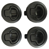 4 Flush Mount Slam Latch Boat/Caravan/4WD/ Door Latch 62mm Suits18mm deep Black