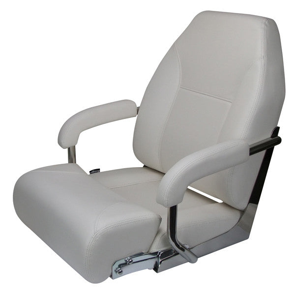 Boat Seat Relaxn Pelagic Series - High Back  White with bonus seat cover