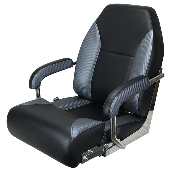 Boat Seat Relaxn Pelagic Series - High Back Black/Grey Carbon