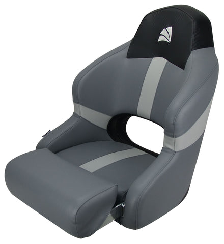 Boat Bucket Seat Relaxn Reef Series Sports Bucket Seat With Bolster Black Carbon/ Grey