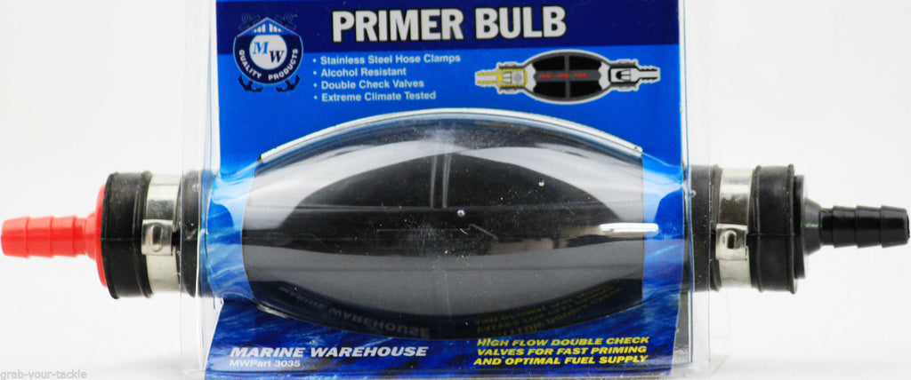 Fuel / Petrol Primer Bulb Outboard Marine Primer Bulb with check valves Best 8mm