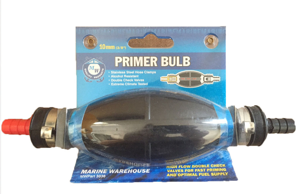 Fuel Petrol Primer Bulb Outboard Marine Primer Bulb with check valves Best 10mm