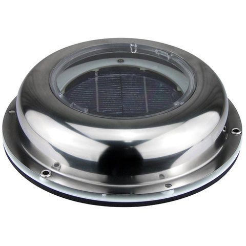Solar Vent Stainless Steel Solar Powered Ventilator Extracts 11.3 cuft/min