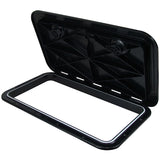 Black Access Hatch 600 x 360 Black ASA Plastic Walk-on UV Resistant Made In Italy