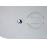 Access Hatch White Europa Walk on Strong ABS Plastic 375 x 280 with lock