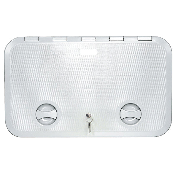 White Access Hatch 600 x 360 White with lock ASA Plastic Walk-on UV Resistant Made In Italy