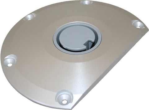 Boat Pedestal Spare Dee Base For Plug-In Post Fits 60mm Post Round Anodised Alum