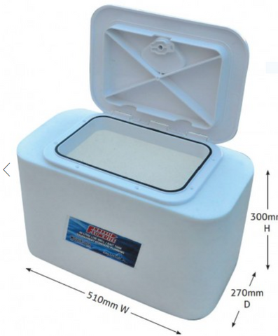 Live Bait Tank 40 Litre With Removable Hatch Lid Flowrite Tournament Tank