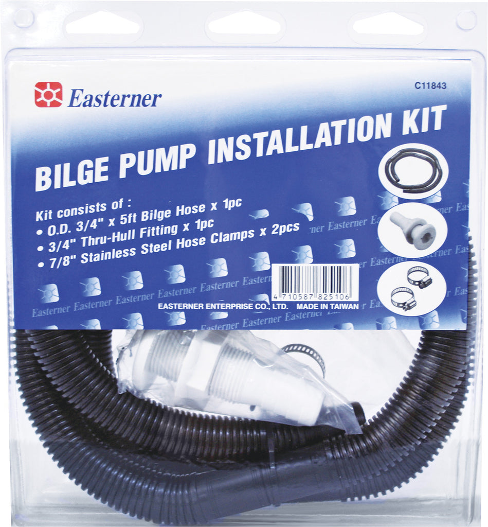 "Bilge Pump Plumbing Kit / Installation kit 20mm  3/4"" with 5' hose Marine"