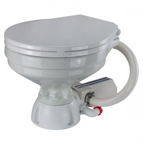TMC Electric Toilet Marine Caravan Standard Small Bowl Soft Close Lid 12 Volt