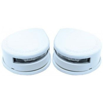 LED Navigation Lights Horizontal Mount White Casing Fully Approved 12 Volt
