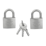 PADLOCKS x 2 Pcs Stainless Steel Keyed Alike Security Lock Padlock Leman