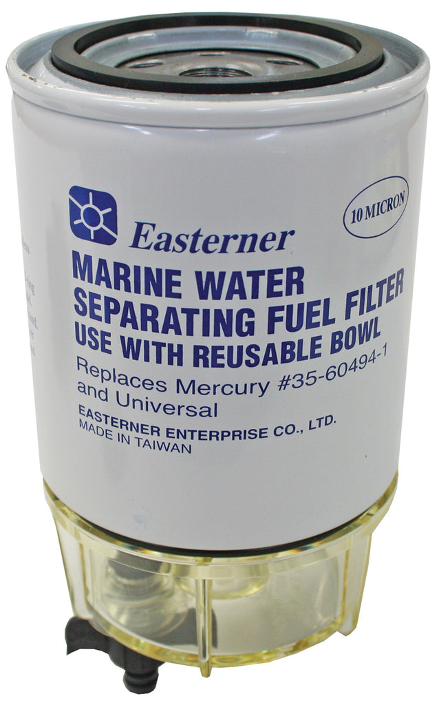 Marine Water Separating Fuel Filter & Reusable Clear Bowl Suits Racor & Mercury