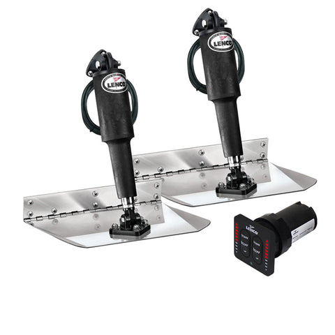 "Lenco Trim Tabs 4 Boat 12 volt 9""x9"" LED Complete Kit with Auto Retract New"