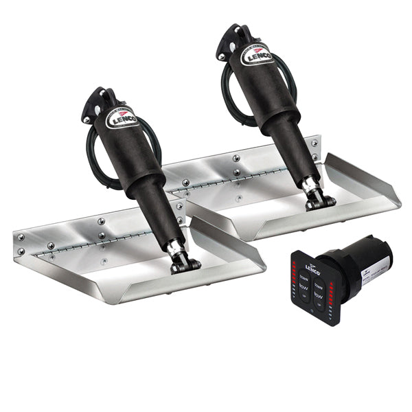 "Lenco Trim Tabs 4 Boat 12 volt 12"" x 12"" Edge Kit LED Complete Kit Auto Retract"
