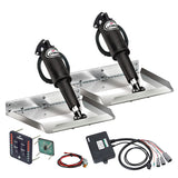 "Lenco Trim Tabs 4 Boat 12 volt 12"" x 9"" Edge Kit LED Complete Kit Auto Retract"