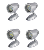 LED Swivel Reading Bunk Light 12 Volt Boat Caravan Cool White On Off Switch x 4