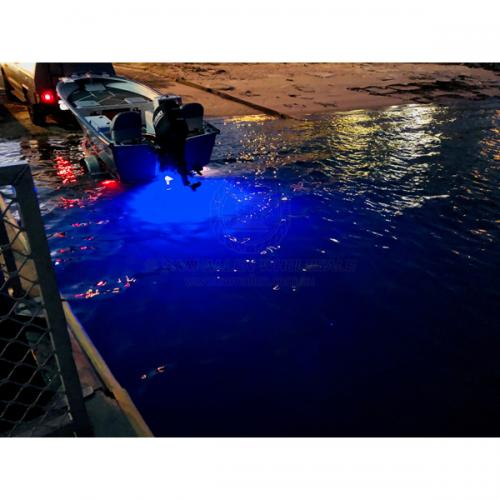 Blue Underwater LED Bung Light Super Bright 500 Lumens Use Existing 40mm Hole