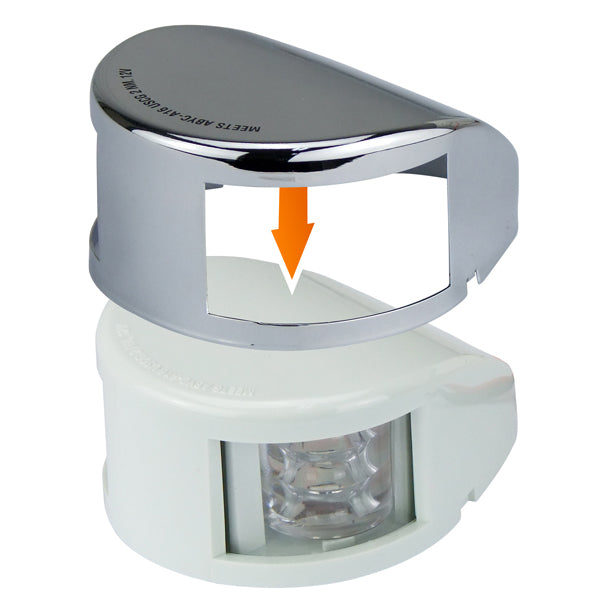 LED Port & Starboard Bow Light 12V Horizontal Mount Either Stainless or White