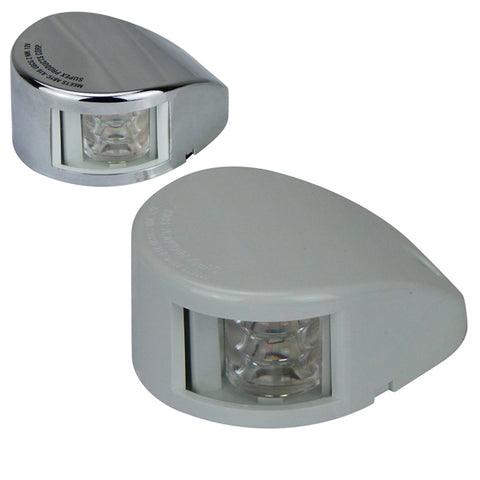 12 Volt LED Navigation Lights Horizontal Mount White & Stainless Covers Supplied